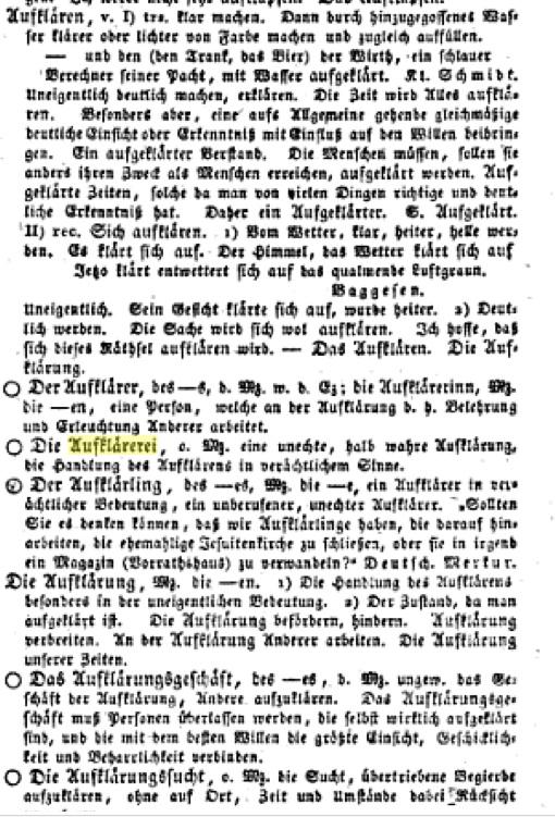 Campe Wörterbuch Aufklärung