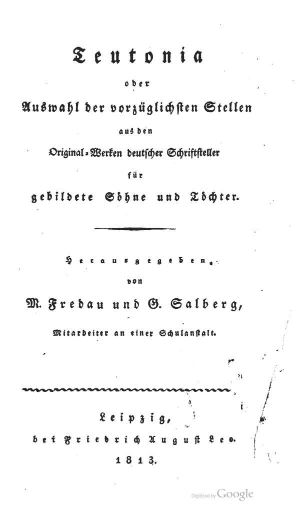Teutonia Title Page