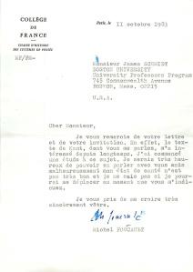 Foucault Letter