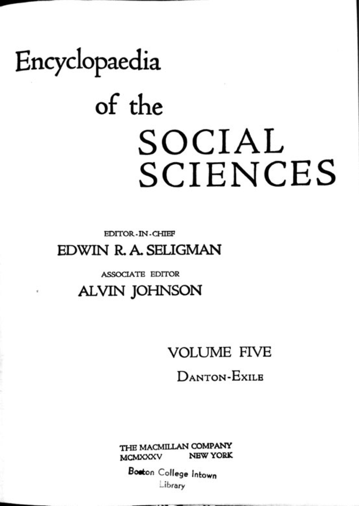 Cassirer On Enlightenment In The Encyclopedia Of The Social Sciences